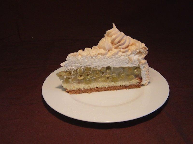 stachelbeer baiser kuchen mit mürbeteig