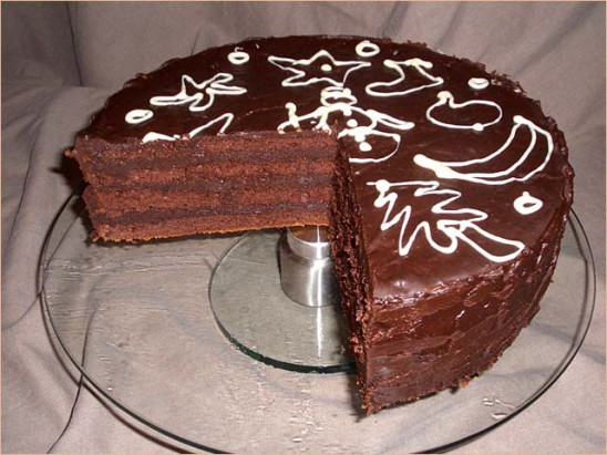 Schokoladen-Rum Torte